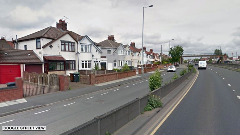 Church Road in Litherland, where one person is dead after a house fire