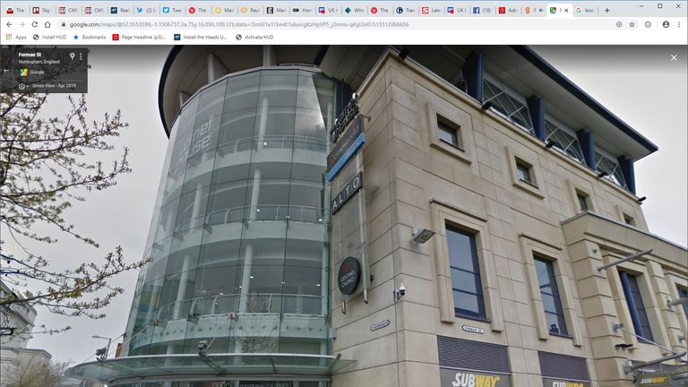 Police were called to the Cineworld cinema complex in Nottingham. Pic: Google Maps