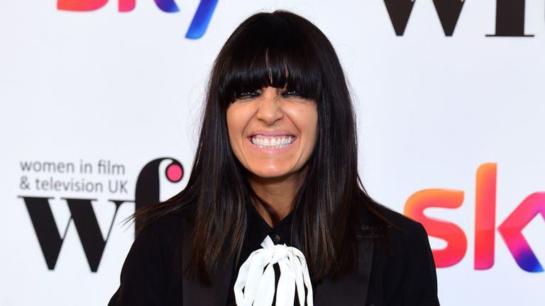 Claudia Winkleman with her Eikon Presenter Award in the press room at the Women in Film and TV Awards 2019 at the Hilton, Park Lane, London. PA Photo. Picture date: Friday December 6, 2019. See PA story SHOWBIZ Women. Photo credit should read: Ian West/PA Wire