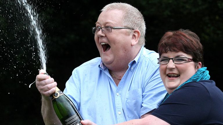 2011: Colin Weir pictured with his then-wife Chris