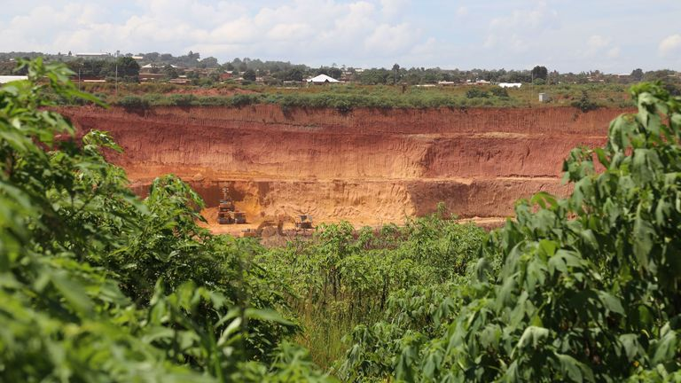 General view of a copper and cobalt mine of Kolwezi, Congo