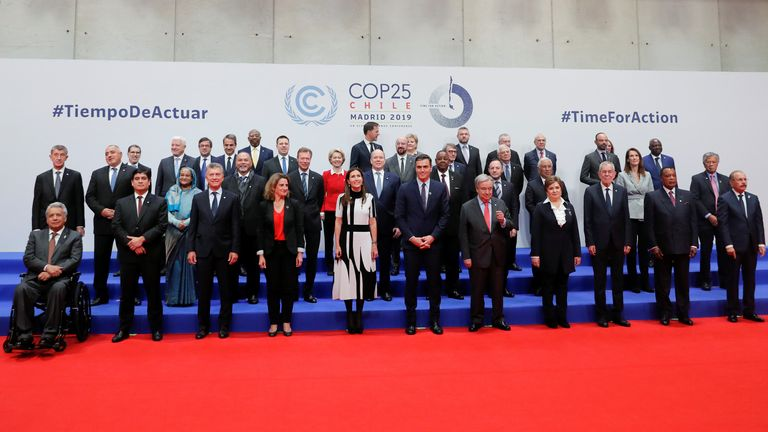 World leaders and ministers are attending the UN climate change summit  in Madrid - which was moved there from Chile