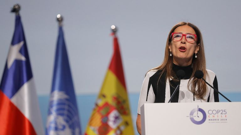 Chile's environment minister, Carolina Schmidt, called on governments to make more ambitious pledges to reduce greenhouse gases