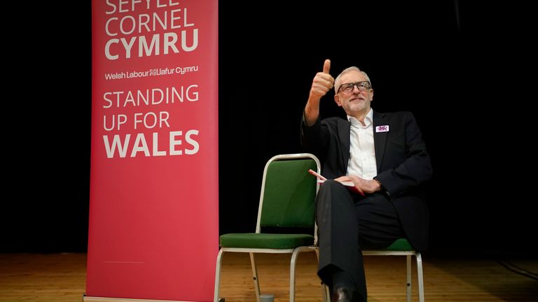 Jeremy Corbyn visits the marginal seat of Arfon