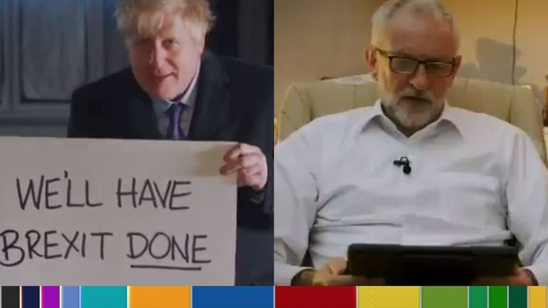 Boris Johnson and Jeremy Corbyn released videos based on pop culture to get their message across