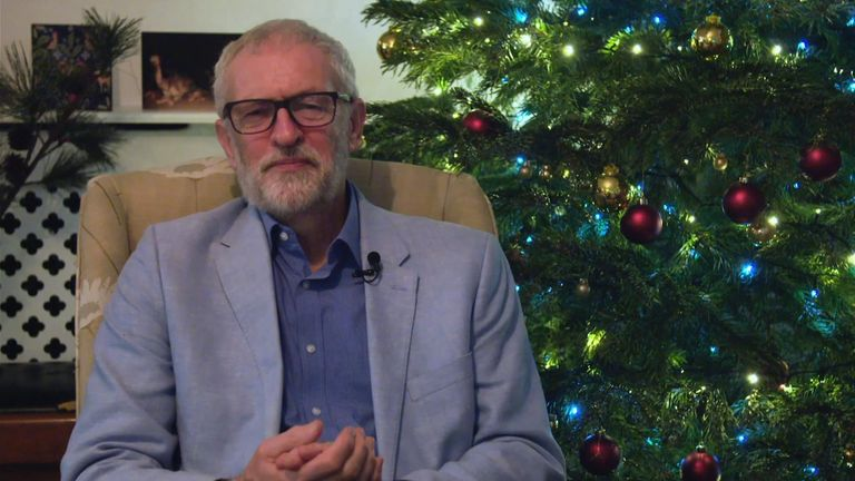 Jeremy Corbyn delivers 2019 Christmas message