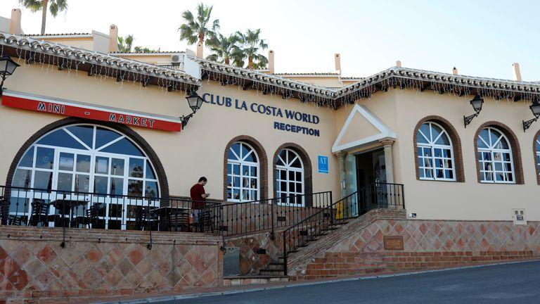 The incident happened at Club La Costa World in Las Lagunas de Mijas