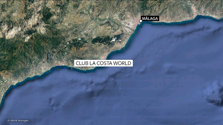 The resort is on Spain's Costa del Sol