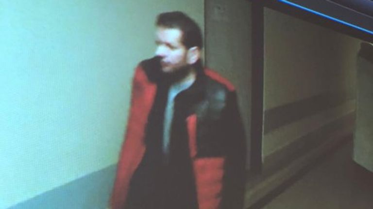 Police released this image of someone appearing to walk through the hospital