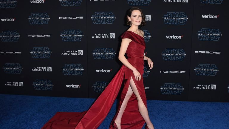 Daisy Ridley at the Rise of Skywalker premiere