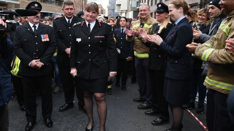 London Fire Brigade (LFB) Commissioner Dany Cotton