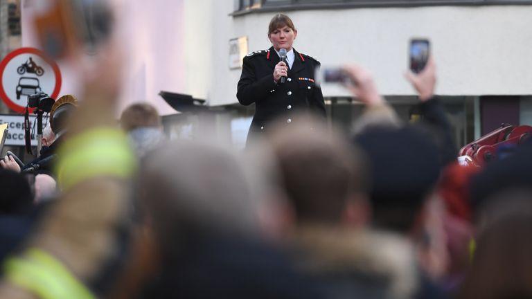 London Fire Brigade (LFB) Commissioner Dany Cotton