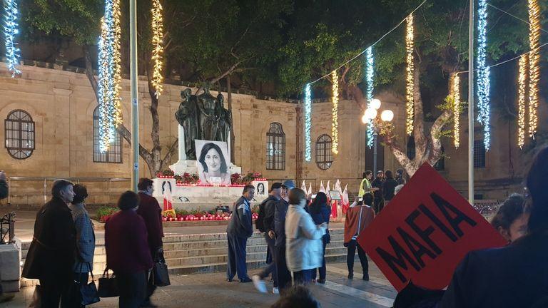 Daphne Caruana Galizia was killed by a car bomb in 2017