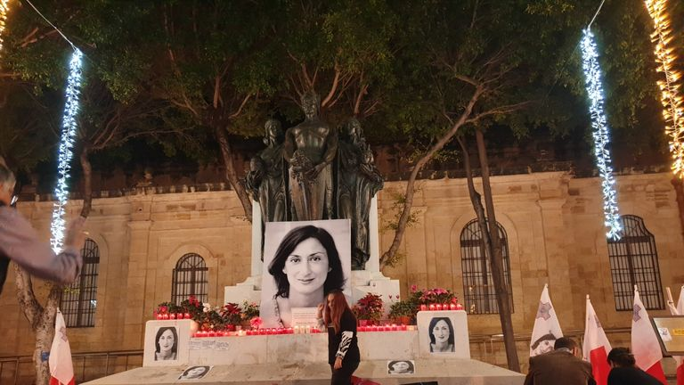 Daphne Caruana Galizia was killed by a car bomb in 2017