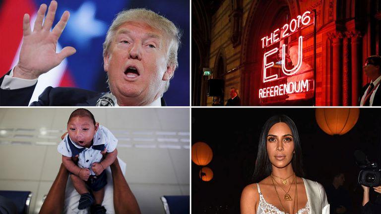 Donald Trump, the EU Referendum, Zika virus and Kim Kardashian dominated 2016's headlines