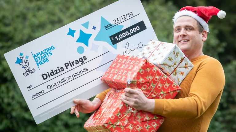 Didzis Pirags won £1m in an online lottery game