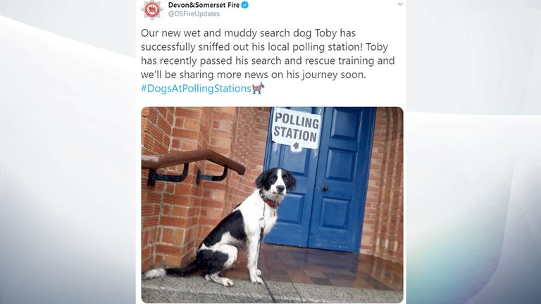 Toby has presumably searched for the right candidate. Pic: @DSFireUpdates