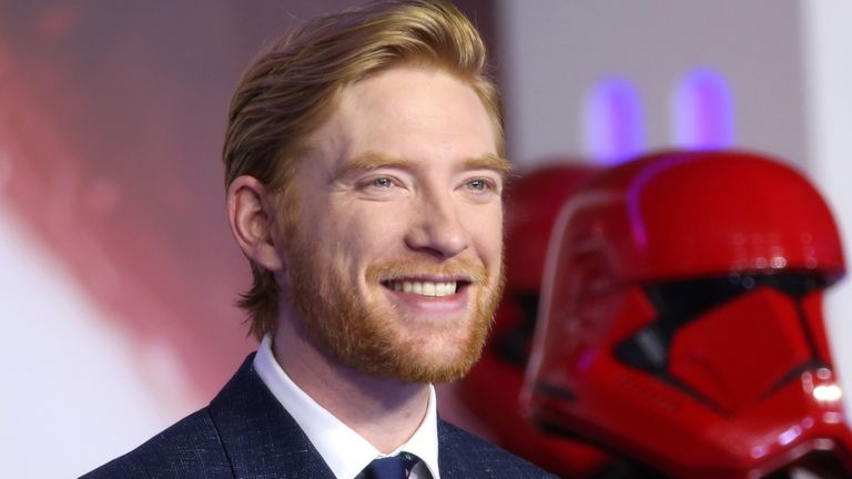 Domhnall Gleeson (General Hux) at the Star Wars: The Rise Of Skywalker premiere