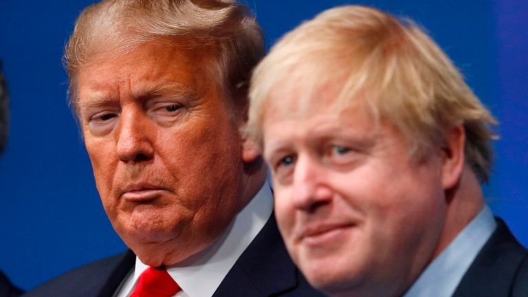 Donald Trump and Boris Johnson will give press conferences to round off the NATO summit