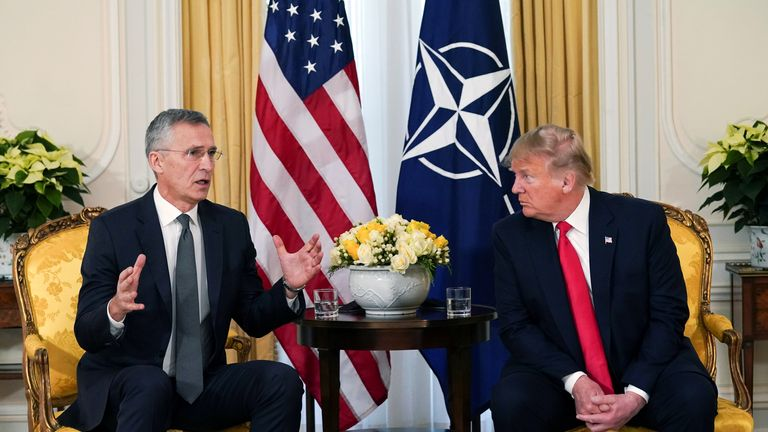 Donald Trump meets with NATO Secretary General Jens Stoltenberg