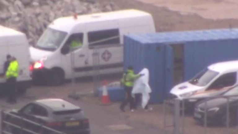 Border police have detained a suspected migrant in Dover, Kent