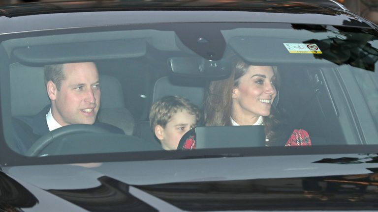 The Duke of Cambridge, Prince George and the Duchess of Cambridge