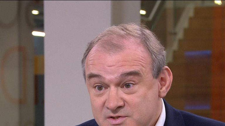 Ed Davey attacks Boris Johnson over trust