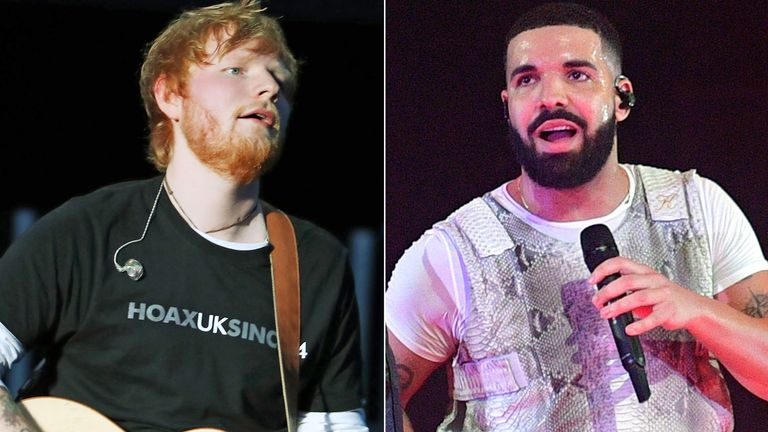 Ed Sheeran and Drake