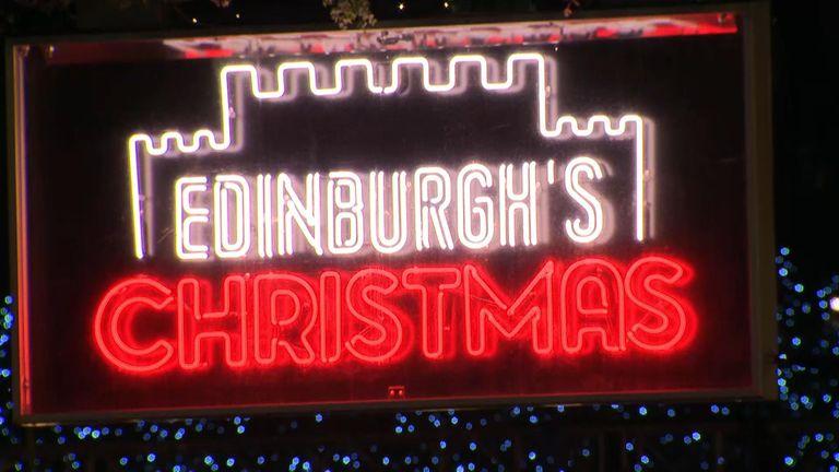 Row over Edinburgh's Christmas market. whether it befits Edinburgh's World Heritage Status. Matthews VT