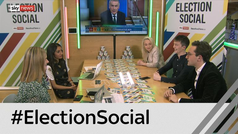 Election Social boasted its very own set, separate from the main Sky News studio