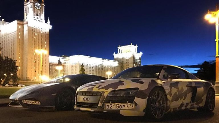 Lamborghini Huracan and Audi R8 used by Evil Corp members. Pic: NC