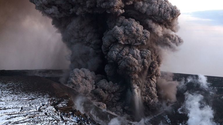 Iceland's Eyjafjallajokull created a huge ash plume when it erupted