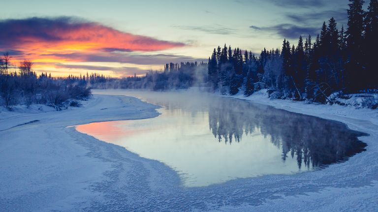 Venetie is approximately 155 miles north of Fairbanks, pictured.