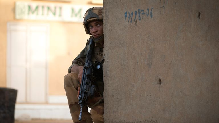 A French soldier on patrol in Mali in 2013