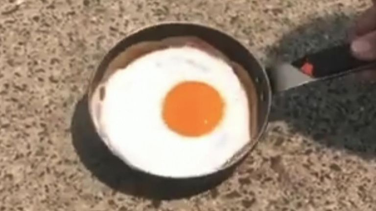 Soaring heat means it is possible to fry an egg on the pavement in Melbourne