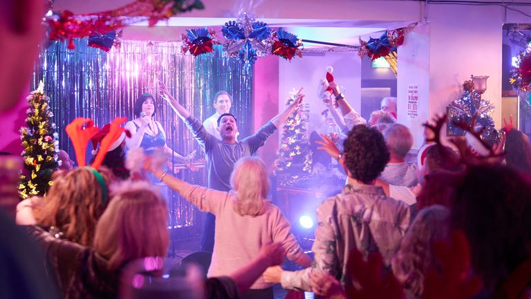 The Christmas special offers a welcome break from all things political