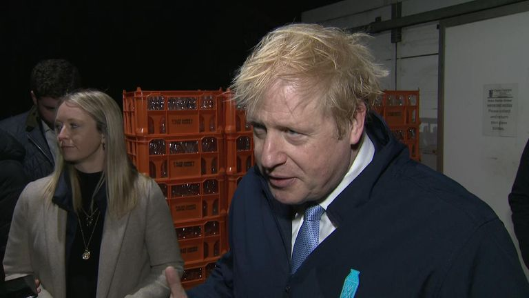 The prime minister spoke to Sky News on the day before polling day, saying there was a possibility of a hung parliament.