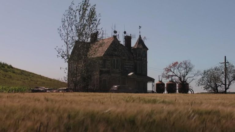 Much of the action in the trailer takes place in an appropriately creepy mansion. Pic: Sony Pictures