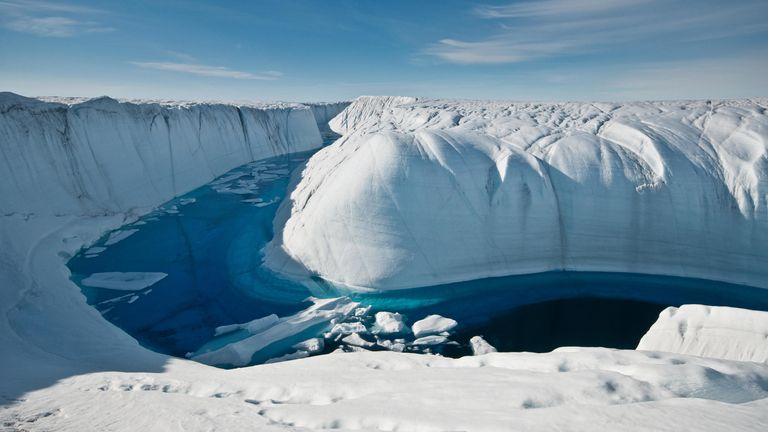 Greenland has lost 3.8 trillion tonnes of ice since 1992, according to the story