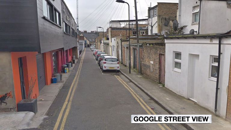 Clarence Mews in Hackney, east London. Pic: Google Maps