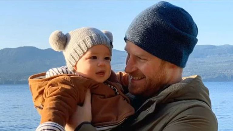 Prince Harry with his son Archie