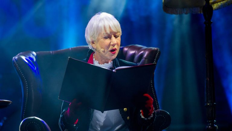 Dame Helen Mirren reads bedtime stories at charity sleep out