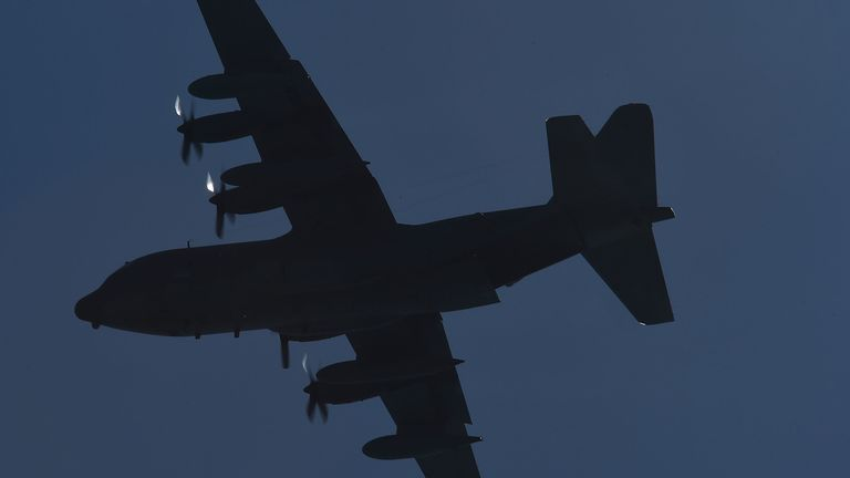 The C-130 had 38 people on board (File Pic)