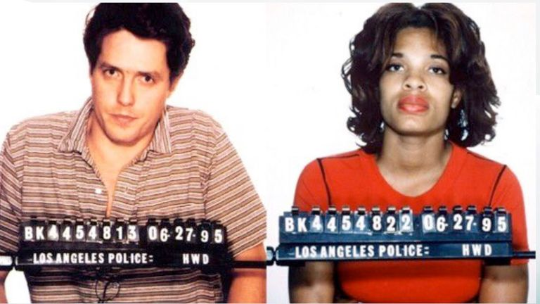 Hugh Grant tweeted the infamous mugshot from 1995