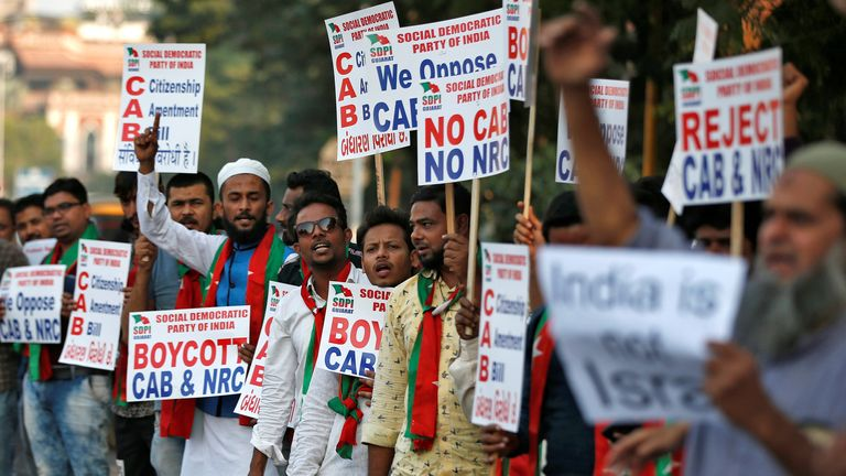 People have protested the new law in India