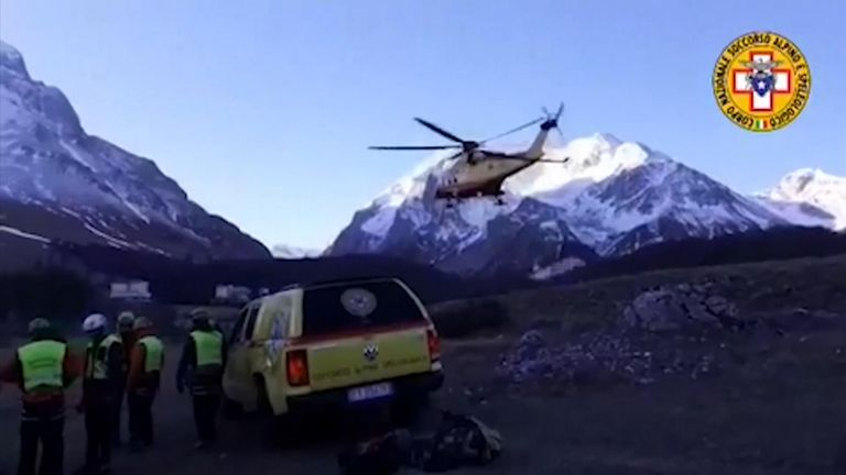 Mountain rescue recovered the bodies of two men and a woman from Grand Sasso on Boxing Day