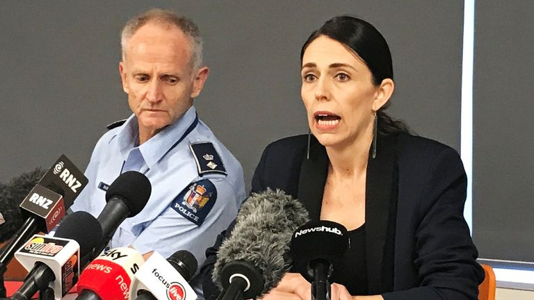New Zealand's Prime minister Jacinda Ardern addresses the media following the eruption