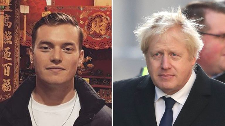 Jack Merrit's (left) father has launched a veiled attack on Boris Johnson