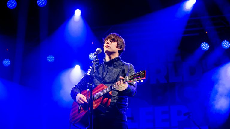 Jake Bugg performs during the event in central London