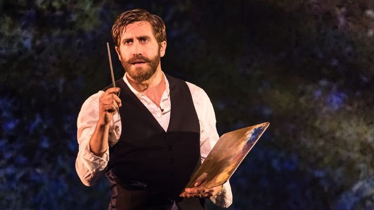Jake Gyllenhaal as George in Sunday in the Park with George on Broadway. Pic: Matthew Murphy